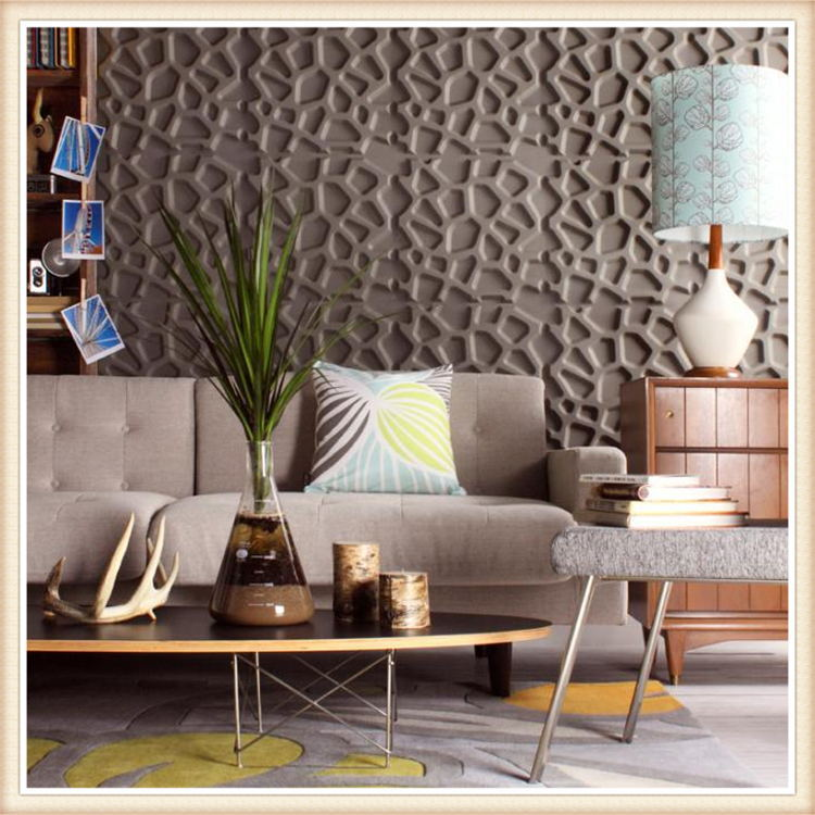 D067 Eco Friendly 3D Effect Decorative Wall Panel PVC Wall Panels