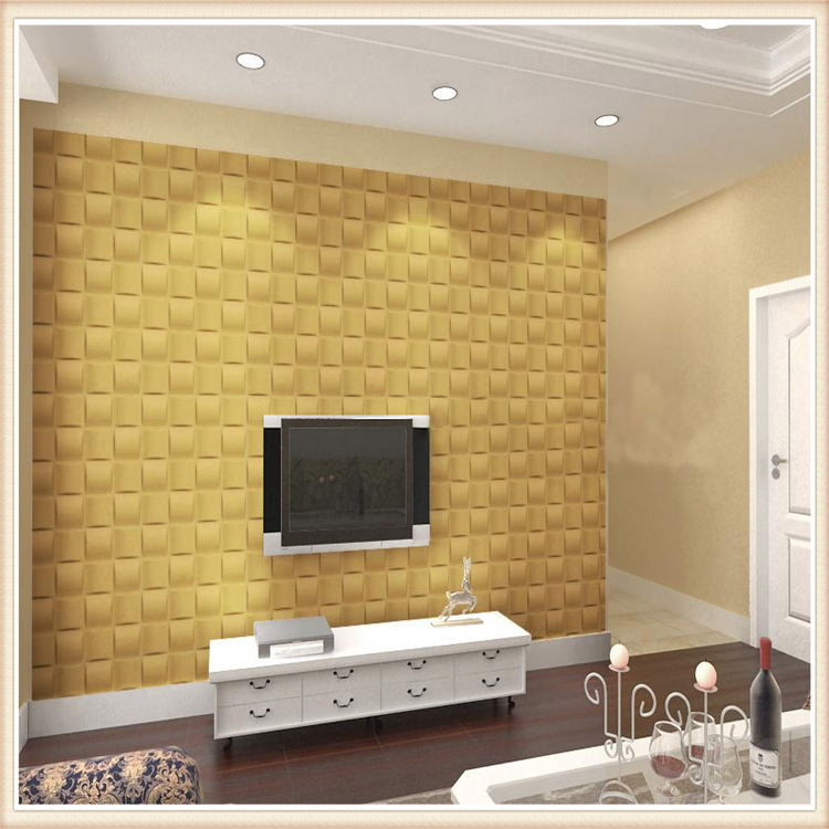 D008 E-co Friendly PVC Modern Design Wall Decor 3D Effect Wall Panel ...