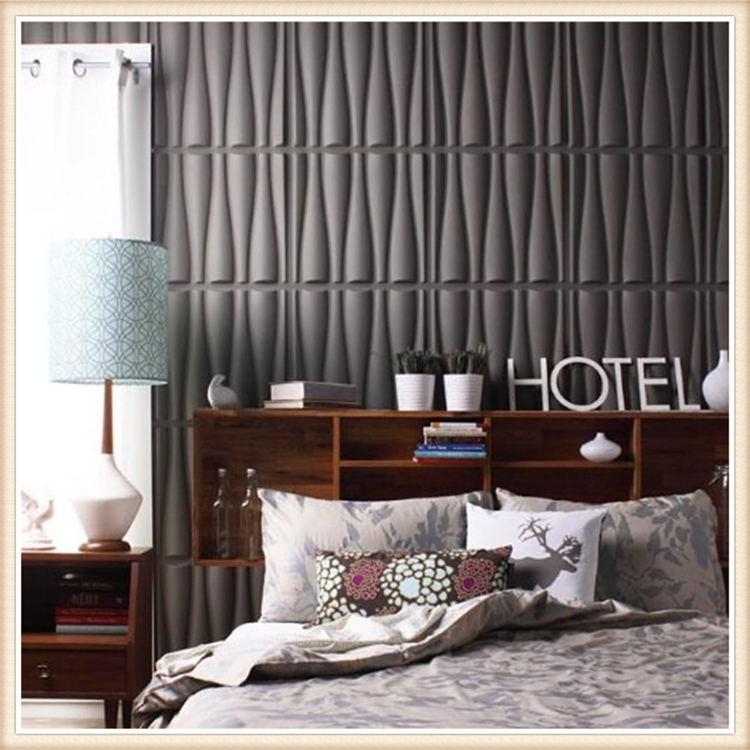 D026 Wave PVC 3D Wall Panel For Modern Bed Room Decoration